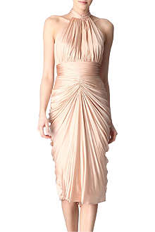 ALEXANDER MCQUEEN Ruched dress