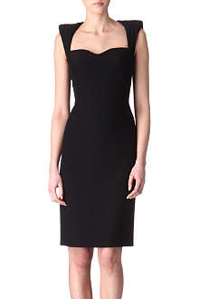 ALEXANDER MCQUEEN Padded-shoulders dress