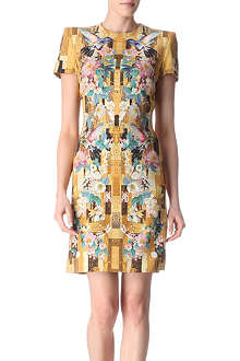 ALEXANDER MCQUEEN Geometric Hummingbird dress