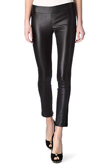 ALEXANDER MCQUEEN Suede-stripe leather trousers