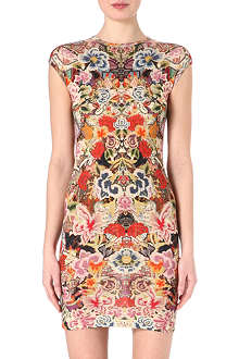 ALEXANDER MCQUEEN Floral knitted dress