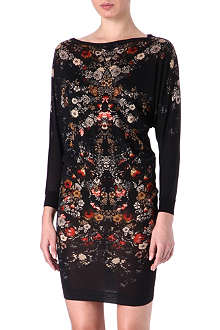 ALEXANDER MCQUEEN Floral wool dress