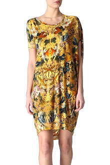 ALEXANDER MCQUEEN Printed wool dress