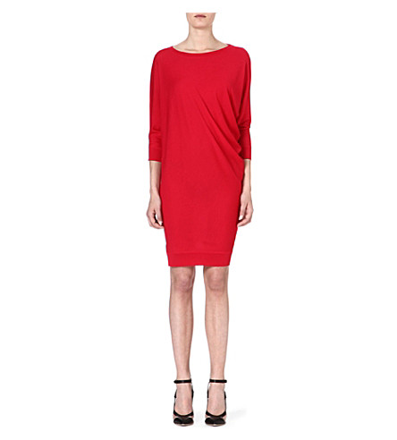 ALEXANDER MCQUEEN S-bend knitted dress (Red