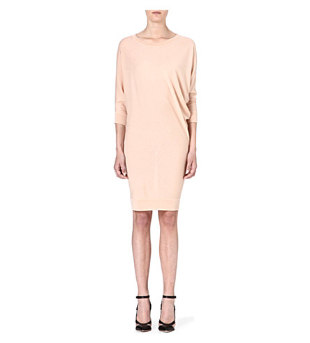 ALEXANDER MCQUEEN S-bend knitted dress (Pink