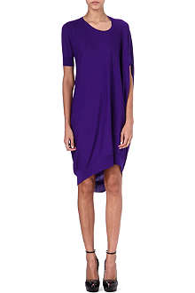 ALEXANDER MCQUEEN Asymmetric knit dress