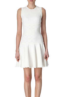 ALEXANDER MCQUEEN Textured knit dress
