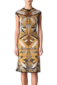 ALEXANDER MCQUEEN Jacquard dress