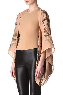 ALEXANDER MCQUEEN Flower and dragonfly cape