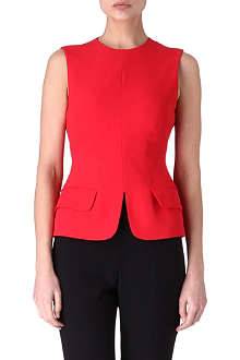 ALEXANDER MCQUEEN Pocket-detail crepe top