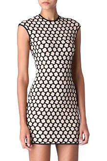 ALEXANDER MCQUEEN Honeycomb dress
