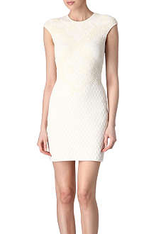 ALEXANDER MCQUEEN Embossed honeycomb dress