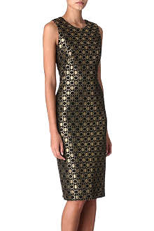 ALEXANDER MCQUEEN Honeycomb lace dress
