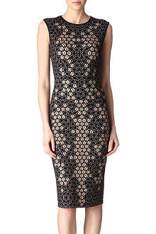 ALEXANDER MCQUEEN Sleeveless honeycomb jersey dress