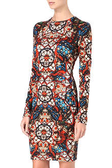 ALEXANDER MCQUEEN Stained-glass jersey dress