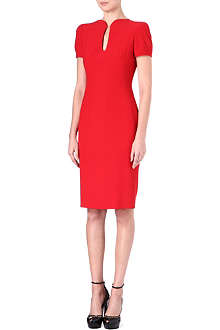 ALEXANDER MCQUEEN Teardrop-neck dress