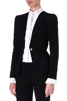 ALEXANDER MCQUEEN Single-breasted wool jacket