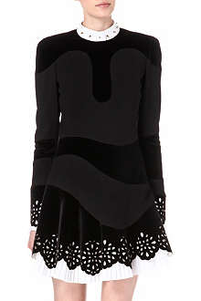 ALEXANDER MCQUEEN Lazer-cut pleated dress