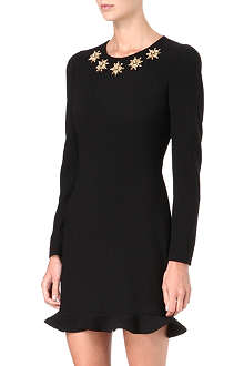ALEXANDER MCQUEEN Embellished-neckline dress