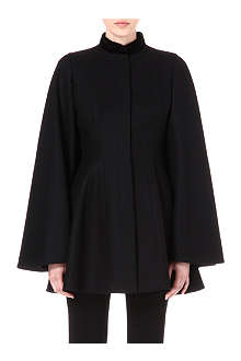 ALEXANDER MCQUEEN Wool cape coat