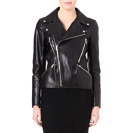 ALEXANDER MCQUEEN Leather biker jacket (Black