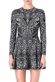 ALEXANDER MCQUEEN Brocade knitted dress