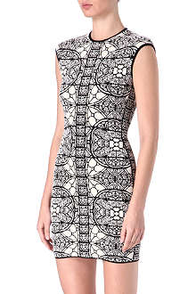 ALEXANDER MCQUEEN Stained-glass jacquard dress