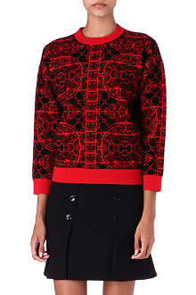 ALEXANDER MCQUEEN Stained glass knitted jumper