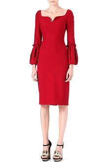 ALEXANDER MCQUEEN Puffed-sleeve detail dress