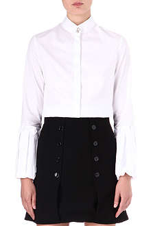 ALEXANDER MCQUEEN Pleated-sleeve shirt