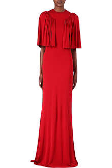 ALEXANDER MCQUEEN Pleated-shoulder gown