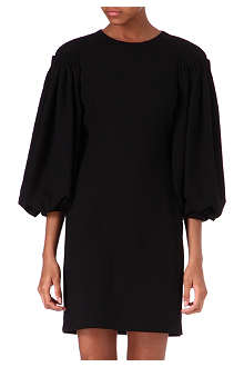 ALEXANDER MCQUEEN Balloon-sleeve wool dress