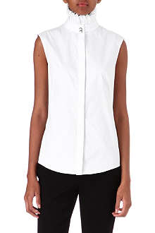 ALEXANDER MCQUEEN Ruffle-neck sleeveless shirt