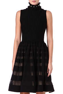 ALEXANDER MCQUEEN Sleeveless silk stripe dress