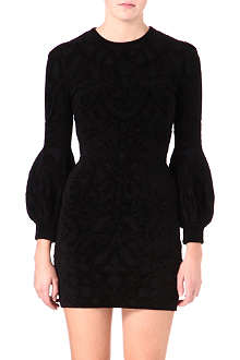ALEXANDER MCQUEEN Chenille balloon-sleeve dress