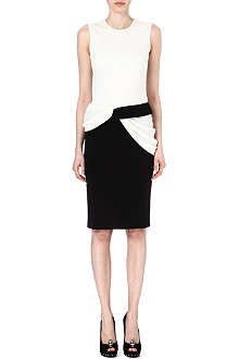 ALEXANDER MCQUEEN Two-tone dress