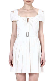 ALEXANDER MCQUEEN Off-the-shoulder cotton dress