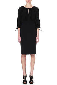 ALEXANDER MCQUEEN Crepe de chine dress