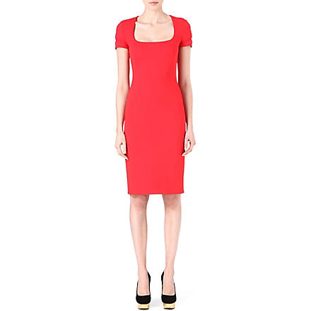 ALEXANDER MCQUEEN Scuba dress (Red