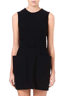 ALEXANDER MCQUEEN Oversized pocket crepe dress