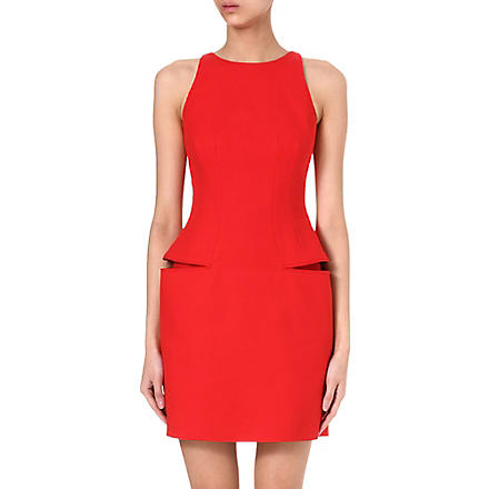 ALEXANDER MCQUEEN Split side-pocket dress (Red