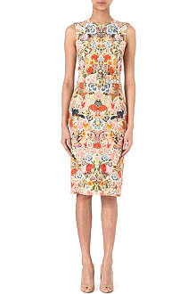 ALEXANDER MCQUEEN Floral belted dress