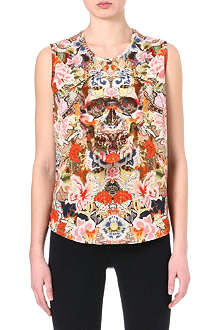 ALEXANDER MCQUEEN Floral sleeveless top