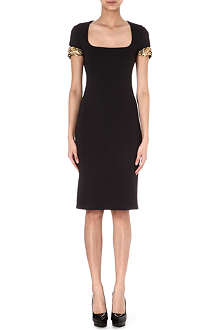ALEXANDER MCQUEEN Scuba embellished-arms dress