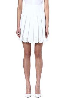 ALEXANDER MCQUEEN Pleated laser-detailed skirt