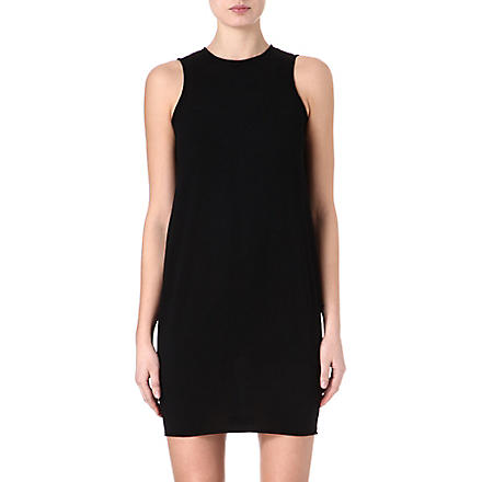 ALEXANDER MCQUEEN Fine-knit boxy dress (Black