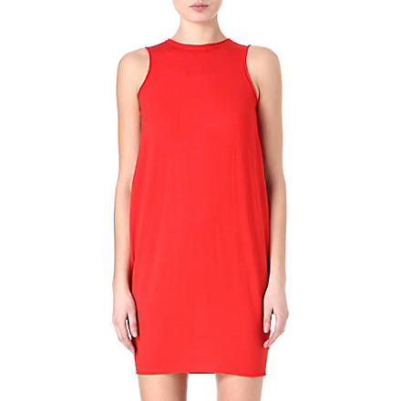 ALEXANDER MCQUEEN Fine-knit boxy dress (Red