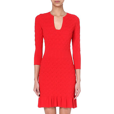 ALEXANDER MCQUEEN Stretch-knit dress (Red