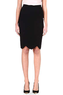 ALEXANDER MCQUEEN Scalloped knitted skirt