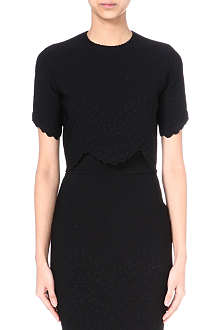 ALEXANDER MCQUEEN Engineered cropped top